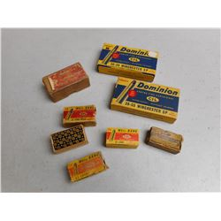 22 LONG RIFLE AMMO, .22 SHORT CIL AMMO, .22 LONG - WHIZ BANG VINTAGE BOX, DOMINION VINTAGE AMMO BOXE
