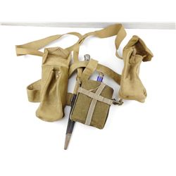 BRITISH WEBBING KIT WITH CANTEEN & BAYONET