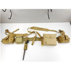 CANADIAN WEBBING KIT WITH COMPASS & BAYONET