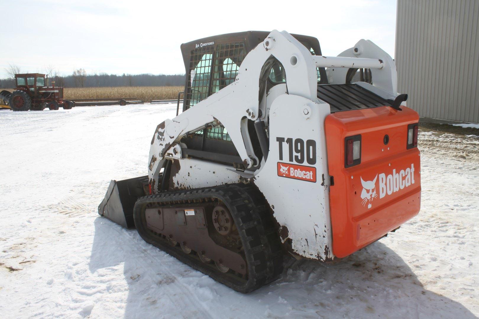 Bobcat T190 track skidsteer, cab, air, 2 speed, power bob