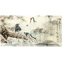 GAO JIANFU Chinese 1879-1951 Watercolor on Paper