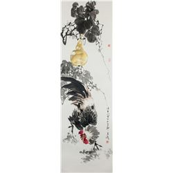 WANG XUETAO Chinese Watercolor Scroll