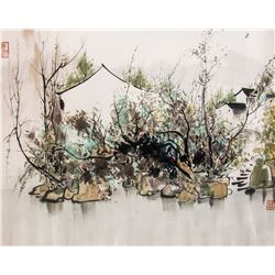 WU GUANZHONG Chinese 1919-2010 Watercolor