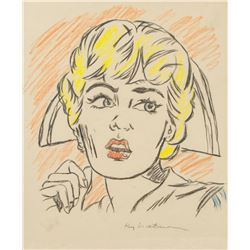 American Pop Art Graphite Signed Roy Lichtenstein