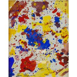 American Gouache Abstract Signed Sam Francis