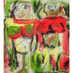 Dutch Oil Expressionist Signed de Kooning