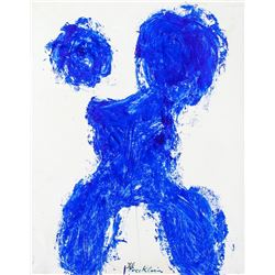 French Oil Expressionist Signed Yves Klein