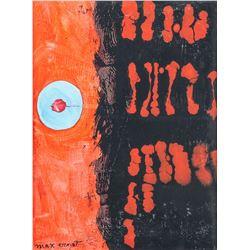 German OOC Modernism Signed Max Ernst