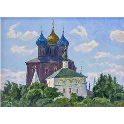Artist Signed Russian OOC Orthodox Church