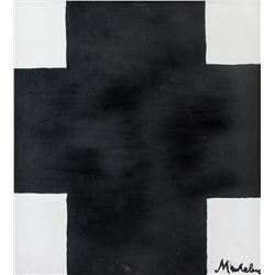 Russian Oil Abstract Composition Signed Malevich