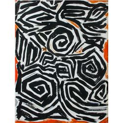 American Abstract Oil on Canvas Signed Lee Krasner