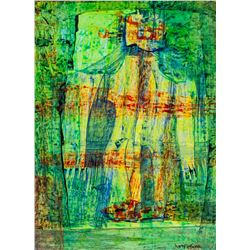 American Oil Abstract Signed Hans Hofmann
