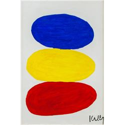 American Oil on Canvas Abstract Signed Kelly
