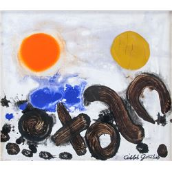 American OOC Abstract Signed Adolph Gottlieb