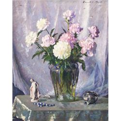 ERNEST LEE American Oil on Canvas Flower