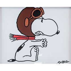 American Mixed Media Snoopy Signed Schulz