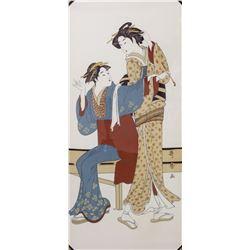 KITAGAWA UTAMARO Woodblock Print Geishas