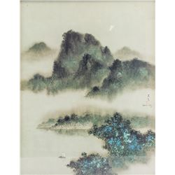 DAVID LEE Modern Chinese American Lithograph
