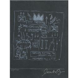 Linocut Print Signed Jean-Michel Basquiat 27/100