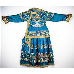 18/19th C. Chinese Emperor's Dragon Robe w/ Collar