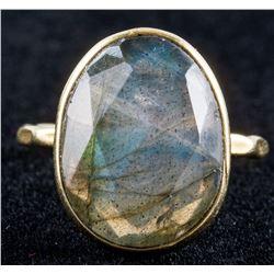 Vintage Oval Cut Labradorite Ring Size 6.75