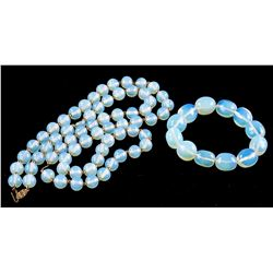 14k Opalite Necklace and Bracelet