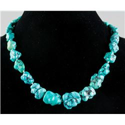 Natural Shape Turquoise Beads Necklace