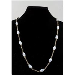 Oval Stone Beads Necklace