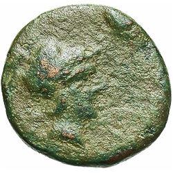 4th Century BC Aeolis Myrina Bronze Coin