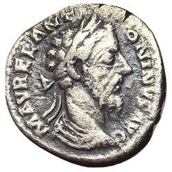 161-180 Roman Empire Marcus Aurelius Denarius