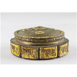 Chinese Brass Foliated Box with CHINA mark