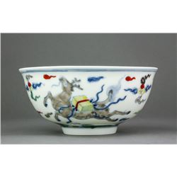 Chinese Doucai Porcelain Bowl Ming MK