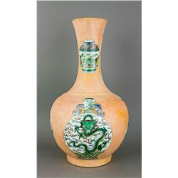 Chinese Famille Verte Kangxi Style Porcelain Vase
