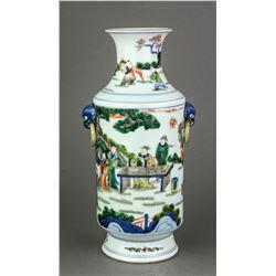Famille Verte Porcelain Vase Qing Period Kangxi MK