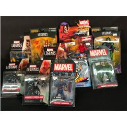 LOT OF ASSORTED MARVEL LEGENDS AND OTHER FIGURINES