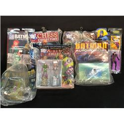 LOT OF MIXED FIGURINES INC. BATMAN AND OTHER DC CHARACTERS