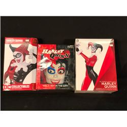 COLLECTION OF 3 HARLEY QUINN FIGURINES
