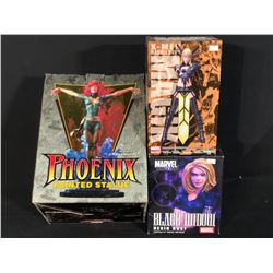 MAGIK, BLACK WIDOW AND PHOENIX FIGURINES