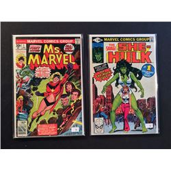 MARVEL FABULOUS LADIES 2 ISSUE #1'S LOT (1977-80) INCLUDES MS. MARVEL #1 (1ST APP) - HIGHER MID