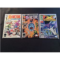 X-FACTOR X 3 KEYS (1986-87) INCLUDES #5 + 6 (1ST BRIEF & FULL APP APOCALYPSE) & #24 (1ST FULL