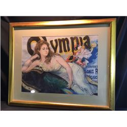 SHELDON C. SCHONEBERG, FRAMED ORIGINAL PASTEL, OLYMPIA PAINTING, SIGNED BY ARTIST ON