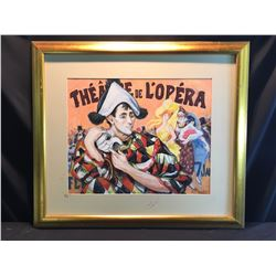 SHELDON C. SCHONEBERG, FRAMED ORIGINAL PASTEL, THE ART DE L'OPERA PAINTING, SIGNED BY ARTIST ON