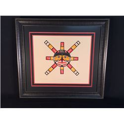 STAN HUNT, OF KWA-GUILTH FIRST NATION, LIMITED EDITION SUN PRINT, 34/42, 1979, 30'' WIDE, 27''