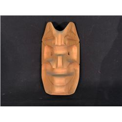 "DORMAN, OF KWAGIUTL FIRST NATION, R. BELL VILLAGE ISLAND, BC, ""BOOKWUS"" HAND CARVED MASK, 10'' T X"