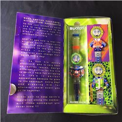 SWATCH STREPP WATCH, WITH 3 INTERCHANGEABLE COSTUMES, 1996, IN ORIGINAL PACKAGING WITH RECEIPT