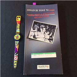 """SWATCH """"SPRAYER"""" WATCH BY DESIGNER YAMA (YOUNG INSPIRATION YOUNG ARTISTS), 1995, MODEL LN-121,"""