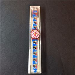 """SWATCH ARTIST WATCH, """"CHICCHIRICHI"""" BY DESIGNER MASSIMO GIACON FROM MILAN, 1991, MODEL GR-112"""