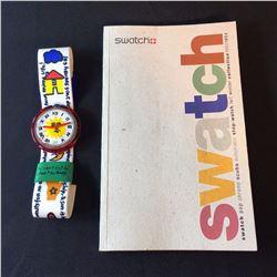 """SWATCH """"ENJOY IT"""" POP WATCH, BY DESIGNER JEAN CHARLES DE CASTELBAJAC, 1993, MODEL PWK-190"""