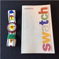 "SWATCH ""ENJOY IT"" POP WATCH, BY DESIGNER JEAN CHARLES DE CASTELBAJAC, 1993, MODEL PWK-190"
