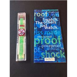 """SWATCH """"MONSTER TIME"""" WATCH, BY ARTIST KENNY SCHARF, 1994, MODEL GR-121, COMES WITH FALL/WINTER"""